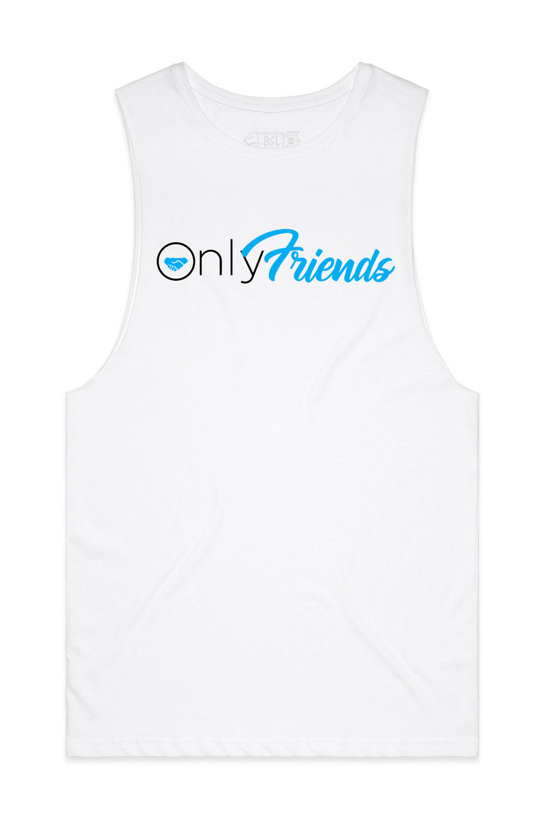 Only Friends Tank Cut-Offs - White