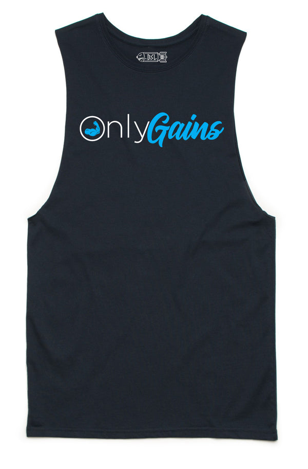 Only Gains Tank Cut-Off - Navy