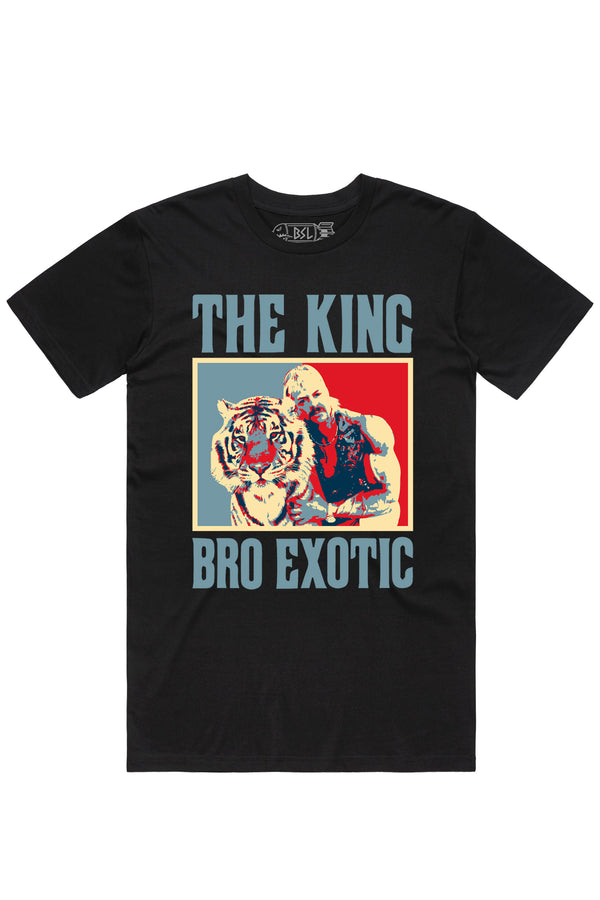 The King Bro Exotic Tee- Black