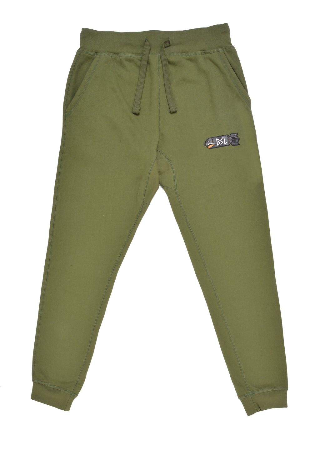 BSL Fitted Tech Joggers - Olive