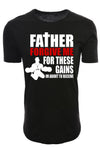 Elongated Father Forgive Me Shirt - Black