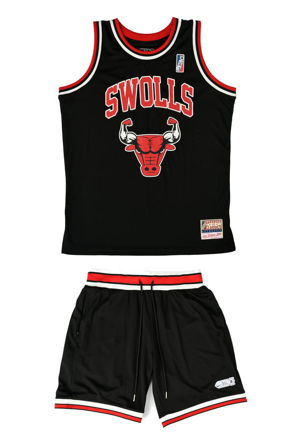 BSL Swolls Basketball Jersey BSL102 & BSL302 Set - Black