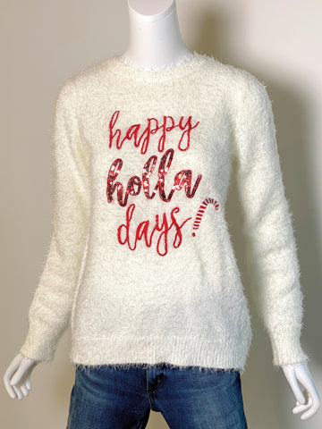 Naughty/Nice Two-Way Sequin Holiday Sweater