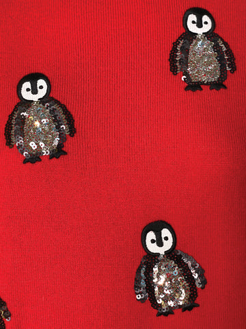 Sequin Penguin Holiday Sweater