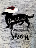 Eyelash Knit Dachshund Holiday Sweater