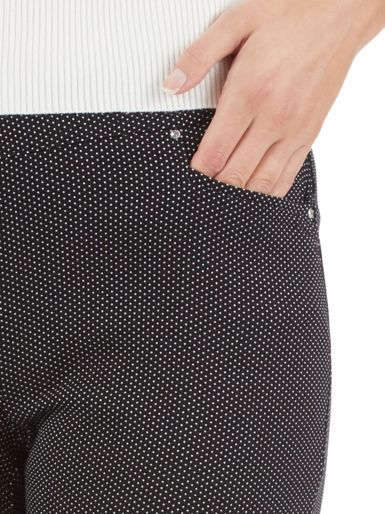Millennium Stretch Diamond Print Crystal Charm Pants