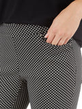 Millennium Stretch Lurex Dot Crystal Charm Pants