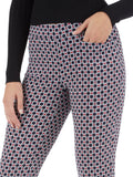 Millennium Stretch Graphic Dot Ladder Cuff Pants