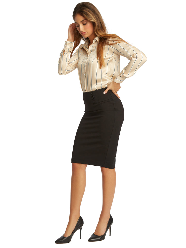 Ponte Sailor Pencil Skirt