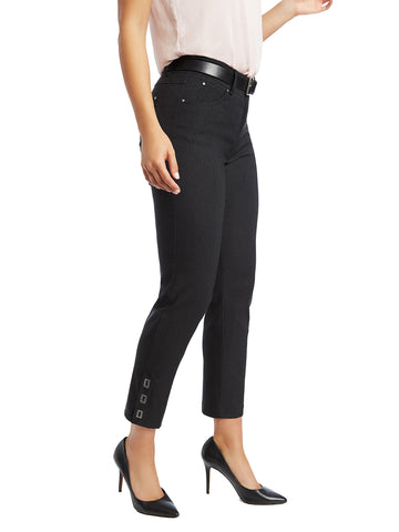 Millennium Threaded Buckle Comfort Waist Capri Pants