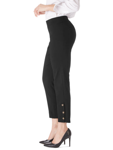 Button Cuff Comfort Waist Ankle Pants