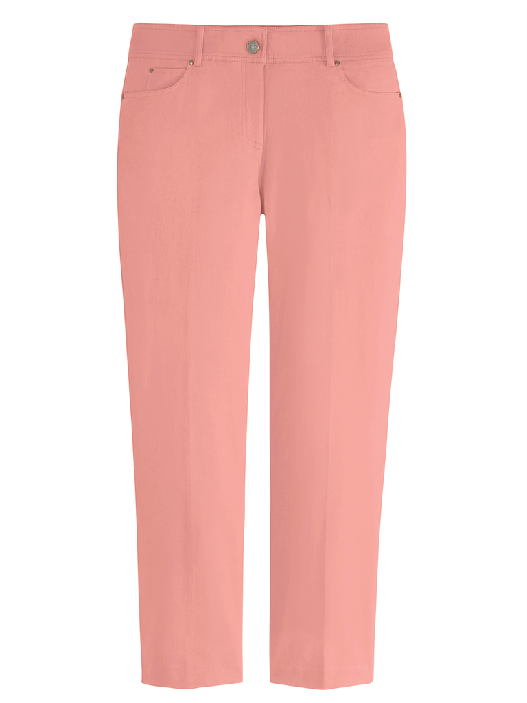 Plus Five Pocket Stretch Straight Leg Pants