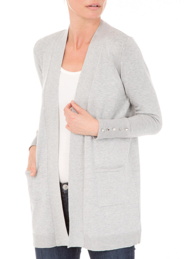Open Front Duster Cardigan with Pockets