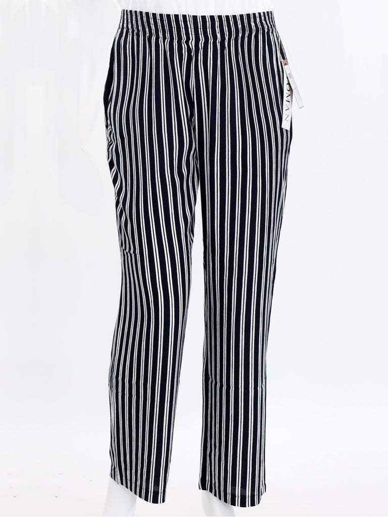 Striped Pull-On Relaxed Pants