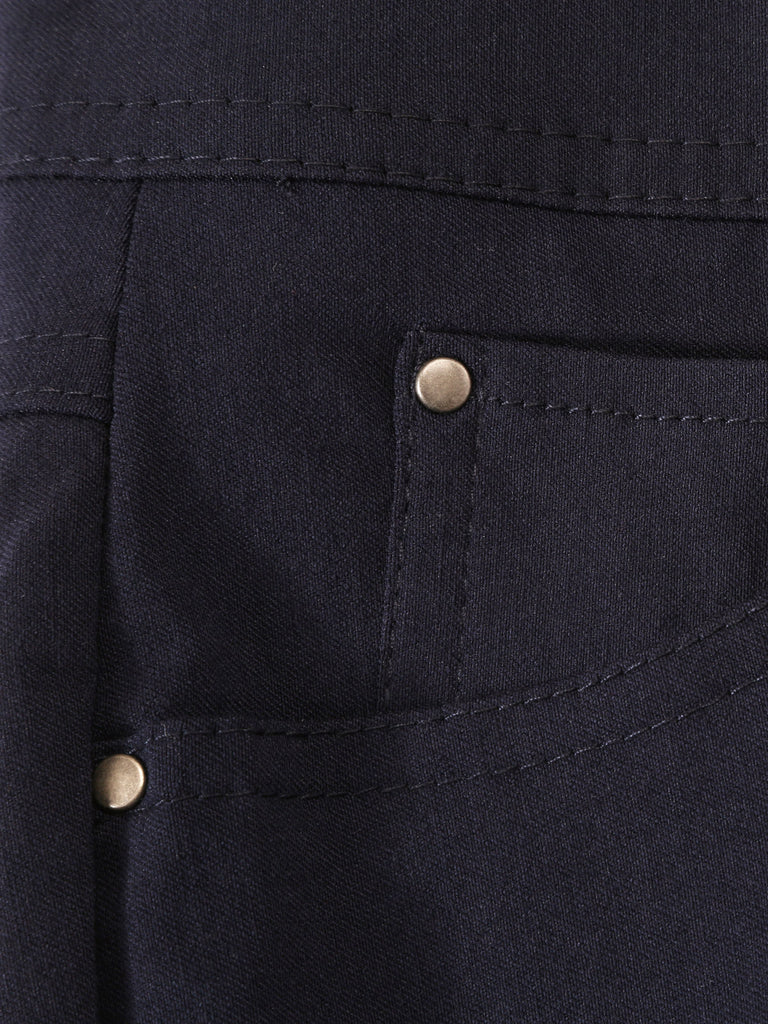Five Pocket Stretch Straight Leg Pants