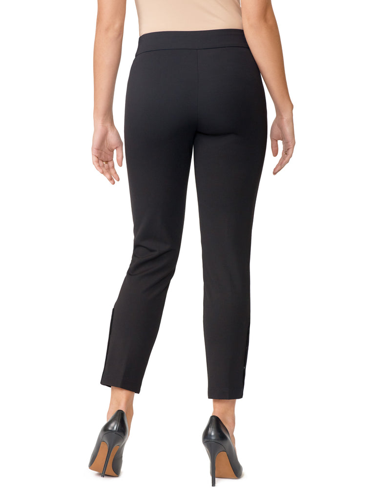 Stretch Snap Tapered Leg Pants