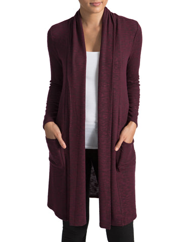 Ribbed Button Duster Cardigan