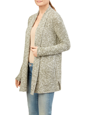 Confetti Knit Shawl Collar Duster Cardigan