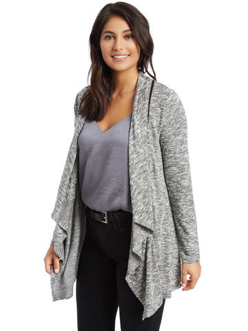 Chevron Point Stripe Cardigan Shrug