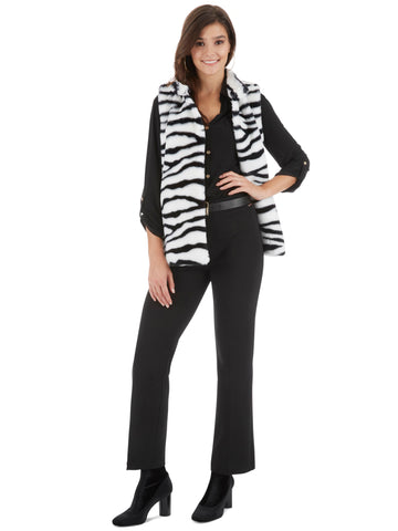 Mixed Animal Print Drop Sleeve Cardigan