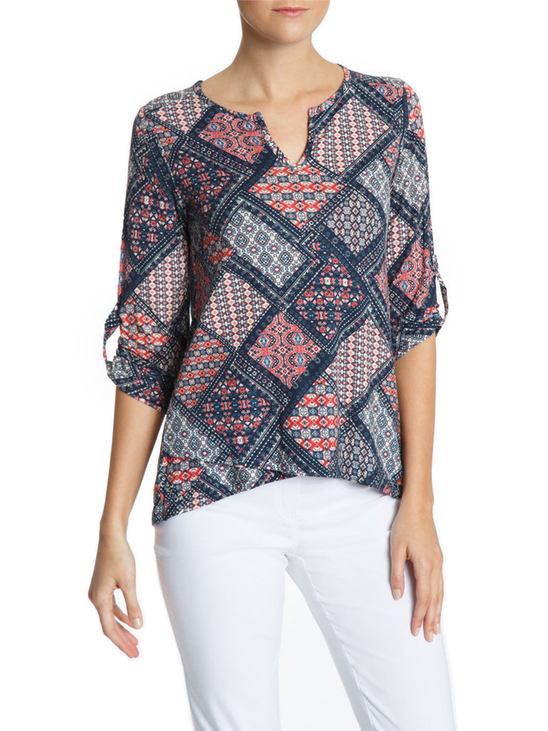 Patchwork Convertible Sleeve Top
