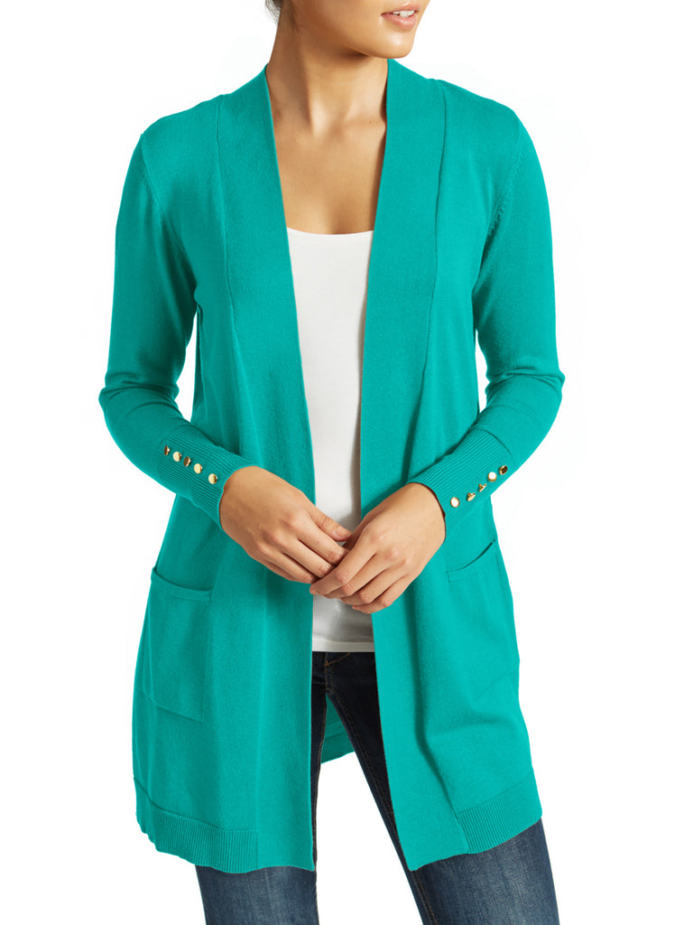 Button Cuff Duster Cardigan