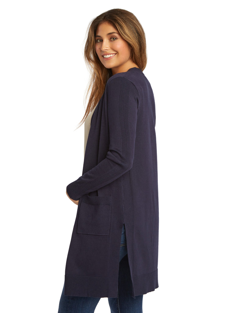 Side Notch Pocket Duster Cardigan