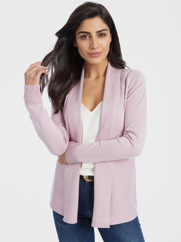 Tie Waist Ruched Sleeve Cardigan