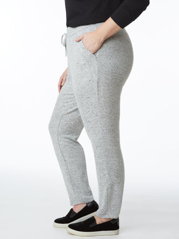 Plus Hacci Tapered Drawstring Comfort Pant
