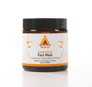 Bio Veda Ayurvedic Face Mask with 23 herbs, 9 gems, gold and silver