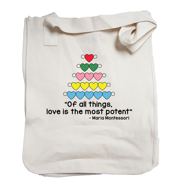 "Heart Beads - ""Love is the most potent"" Tote Bag"