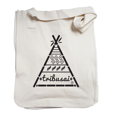 Tribusai Black Tote Bag