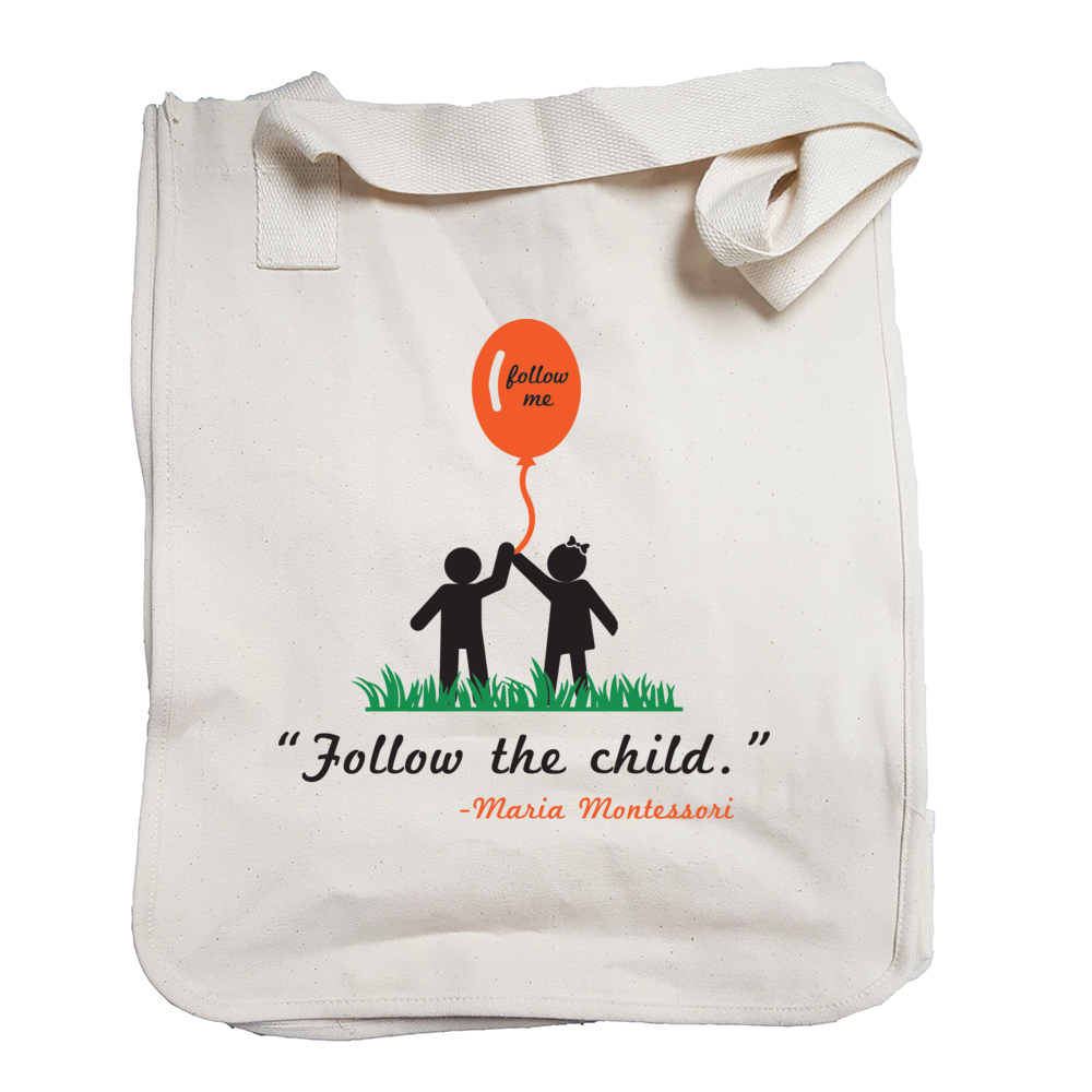 Follow The child Tote Bag
