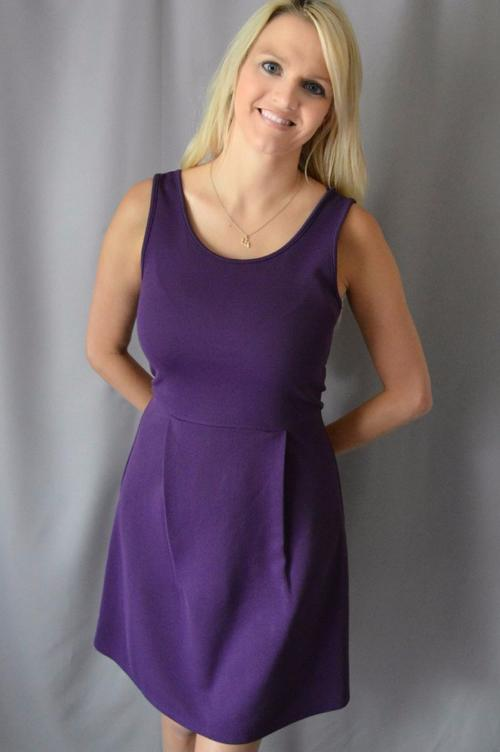 eb4bed08084739 Sleeveless Purple and Gold Dress with Bows