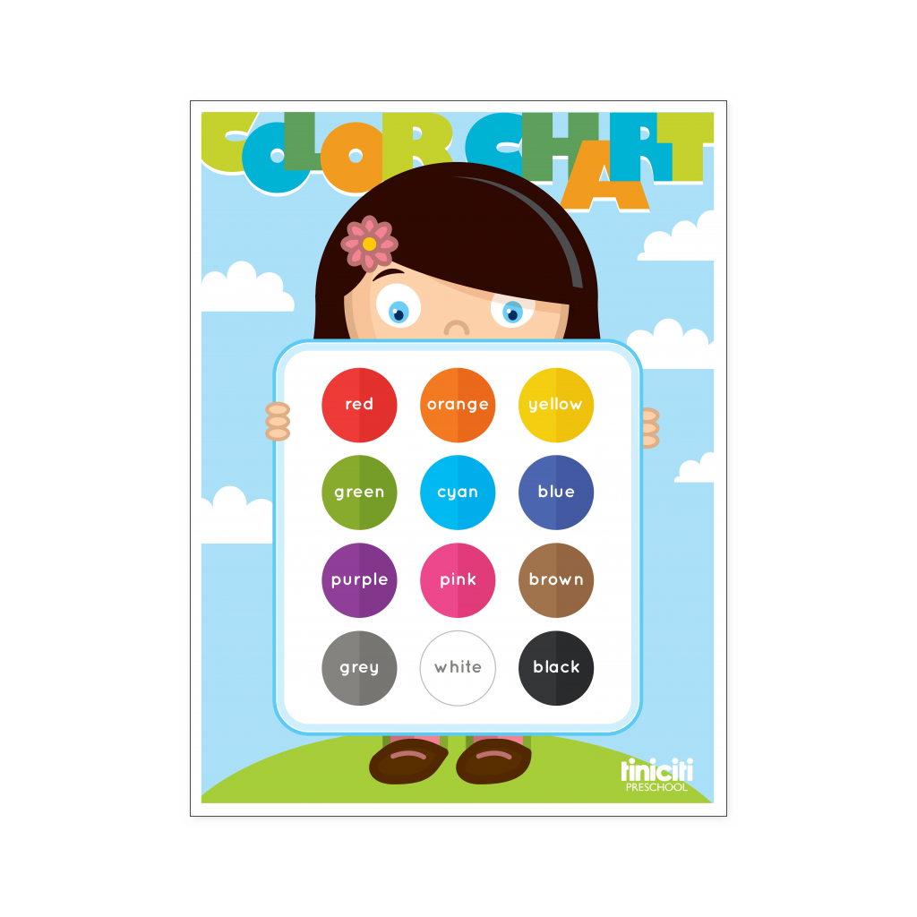 color chart poster tiniciti preschool shop