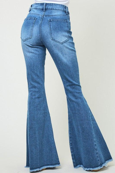 Distressed Bell Bottom Jeans