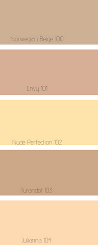 NO FACE Organic natural skin care makeup foundation shade color chart