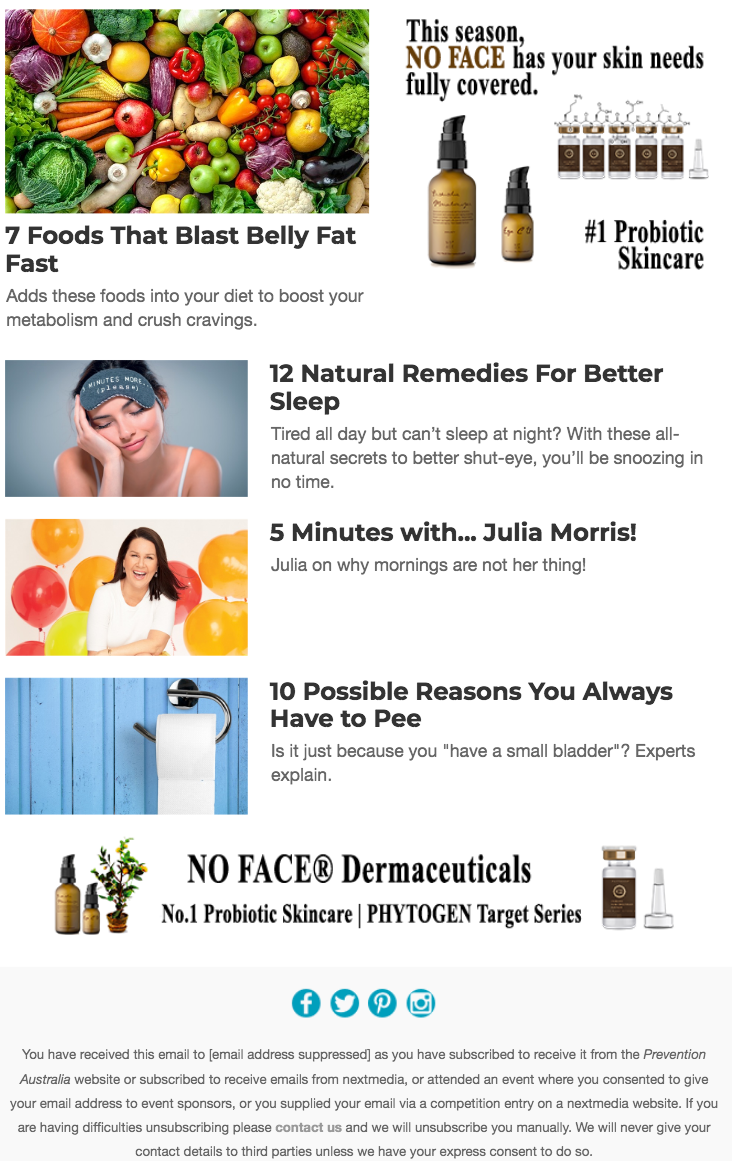 prevention magazine australia no face dermaceuticals
