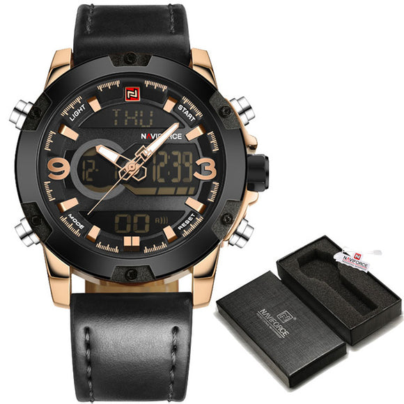 Black/Gold Luxury High End, Top Quality Men Sports Watch - Toyz For The Boyz,  - Man Cave Gear,