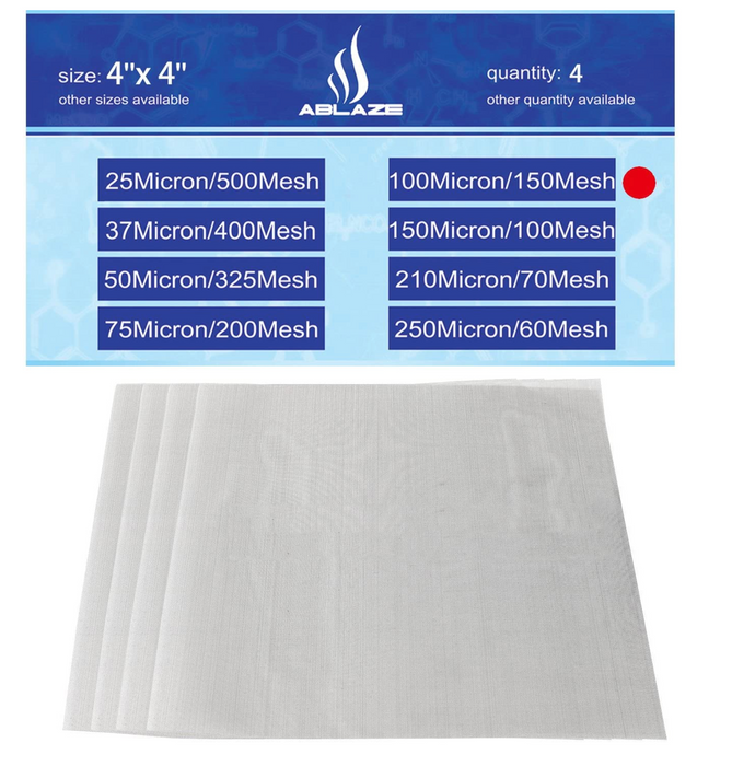 "Ablaze | Premium Nylon Tea Home Brewing Aquariums Filter Press Screen Bags | 2"" x 4"" 