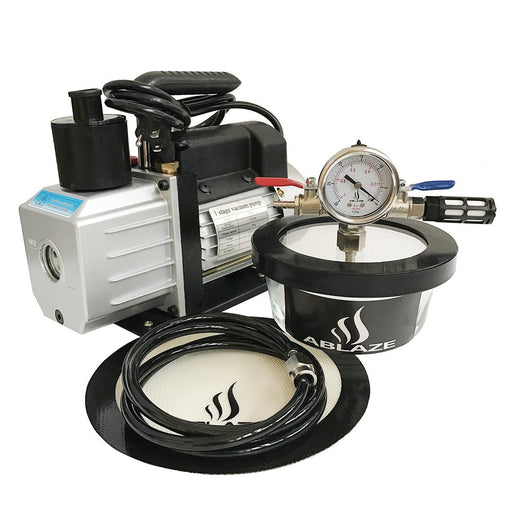 ABLAZE 1 Quart Glass Vacuum Degassing Chamber and 3 CFM Single Stage Pump Kit