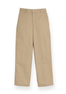 Boy's Plain Front Khaki Pants