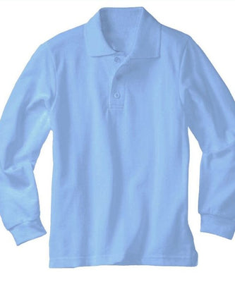 OLQH Light Blue Knit Polo L/S