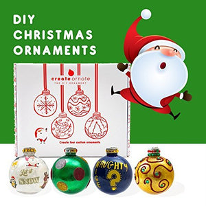 DIY CHRISTMAS ORNAMENT KIT - 4 Pack