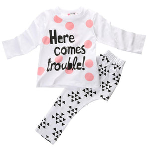 Here Comes Trouble - 2pcs outfit