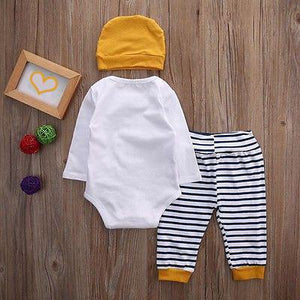 3pcs - Hello World Adorable 3-piece Outfit