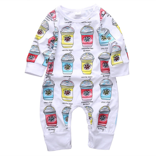 Little Frappuccino Baby Romper