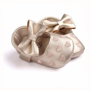 Bowknot Moccs For Baby Girls