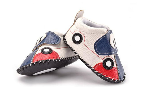 Cute Racing Car Moccasin For Baby Boy