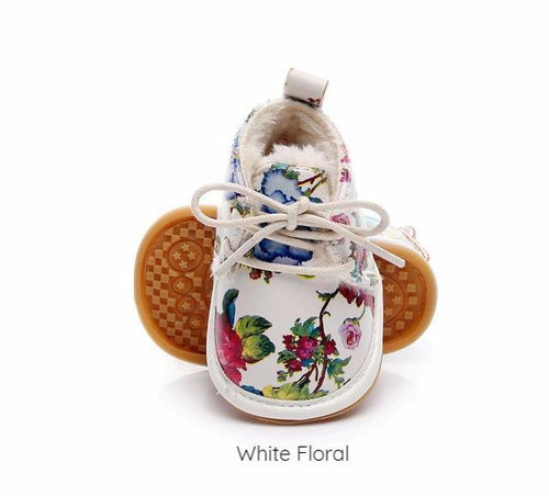 Footwear - Adorable Warm Floral Baby Shoes